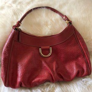 Auth GUCCI Guccissima Largest D-Ring Handbag Purse